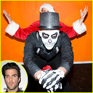 Zachary Quinto's Halloween Costume: Skeleton!