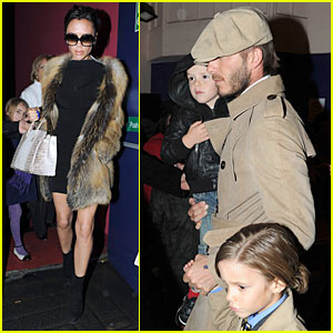 The Beckhams Catch 'Jersey Boys'