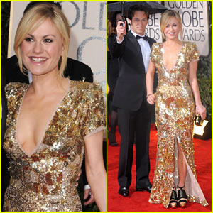 Anna Paquin Golden Globes 2010 With Stephen Moyer