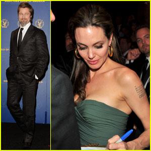 Brad Pitt & Angelina Jolie: Together At Director's Guild Awards
