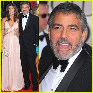 George Clooney & Elisabetta Canalis - Golden Globes 2010 Red Carpet