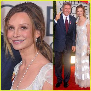 Harrison Ford & Calista Flockhart - Golden Globes 2010 Red Carpet