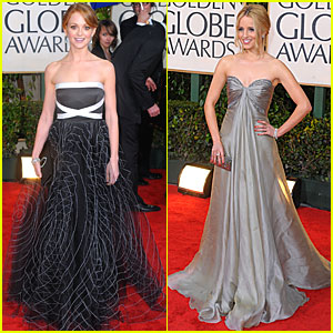 Jayma Mays & Dianna Agron - Golden Globes 2010 Red Carpet