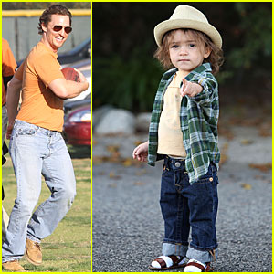 Matthew McConaughey & Levi: Pigskin and Plaid!