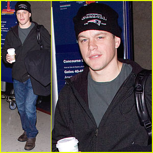Matt Damon Has Patriot Pride