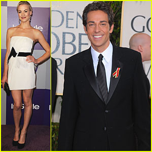 Zachary Levi & Yvonne Strahovski: Golden Globes & After Party!