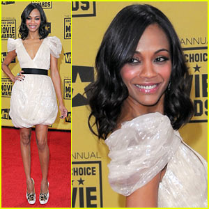 Zoe Saldana - Critics' Choice Awards 2010 Red Carpet