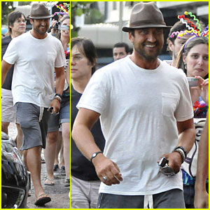 Gerard Butler: At The Copa, Copacabana...