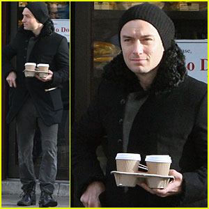 Jude Law Keeps His Crew Caffeinated