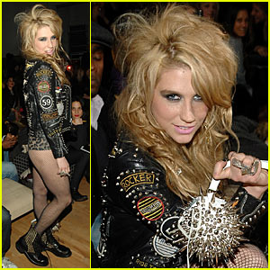 Ke$ha Hits Fashion Week with Erin Wasson