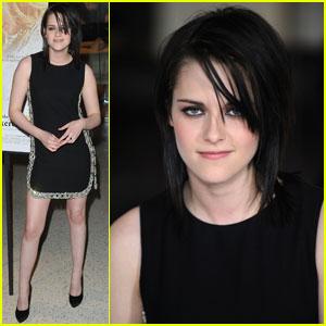 Kristen Stewart: 'Yellow Handkerchief' Happy