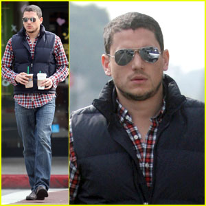 Wentworth Miller Gets His Caffeine Kick