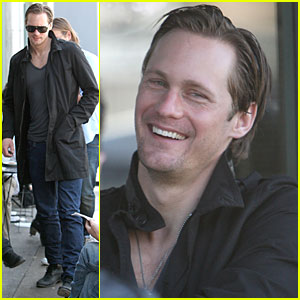 Alexander Skarsgard is Laughing at Lunch