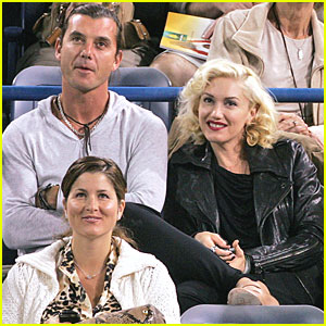 Gwen Stefani and Gavin Rossdale Cheer On Roger Federer