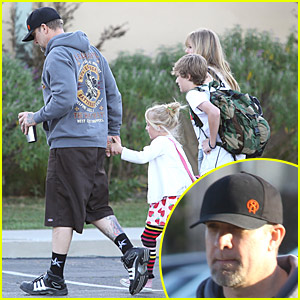 Jesse James Takes Kids to School Amid Infidelity Rumors