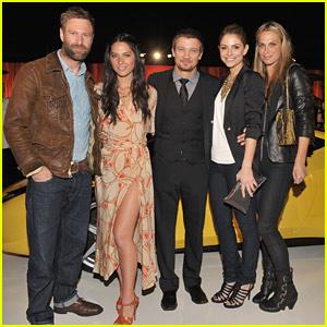 Jeremy Renner & Olivia Munn Join Ferrari Fivesome