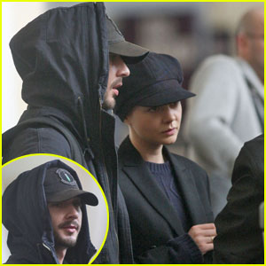 Shia LaBeouf & Carey Mulligan Jet Out of JFK