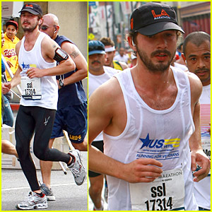 Shia LaBeouf Running Los Angeles Marathon -- PICTURES