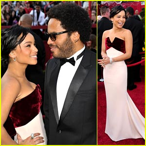 Lenny & Zoe Kravitz - Oscars 2010 Red Carpet