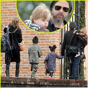 Brad Pitt & Angelina Jolie: Easter Egg Hunt!