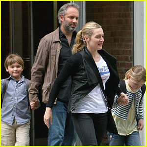 Kate Winslet and Sam Mendes Reunite for School Run