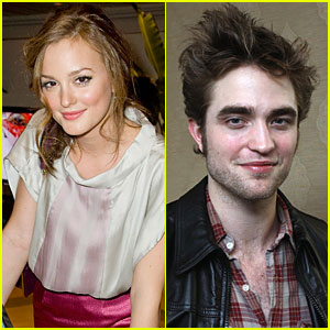 Leighton Meester & Robert Pattinson Dating? Nope!