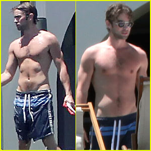 Shirtless Chace Crawford Vacations in Mexico