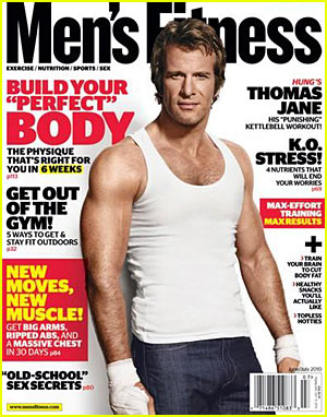 Shirtless Thomas Jane: Men's Fitness Cover!