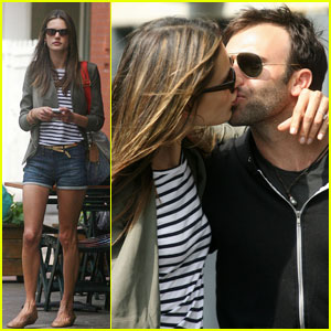 Alessandra Ambrosio Puckers Up