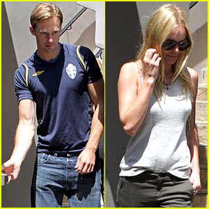 Alexander Skarsgard & Kate Bosworth: World Cup Watchers!