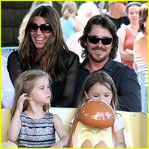 Christian Bale & Sibi: Disneyland Duo