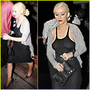 Christina Aguilera: Prime One Twelve Dinner Date