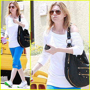Ellen Pompeo: Green Soled Sneakers!