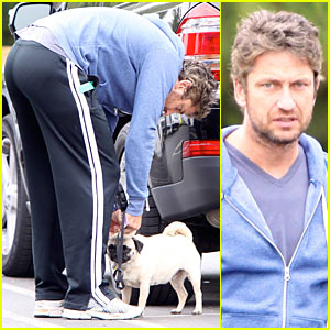 Gerard Butler: Strolling with Lolita!
