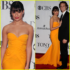 Lea Michele: Tony Awards with Jonathan Groff!