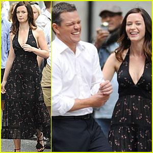 Matt Damon: Reshoots with Emily Blunt!