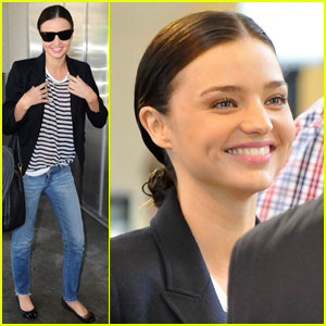 Miranda Kerr Stripes Back