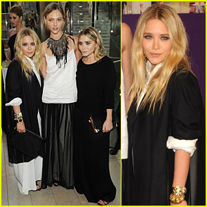 Olsen Twins: CFDA Awards with Sasha Pivovarova!