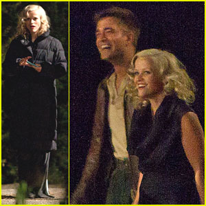 Reese Witherspoon: Night Shoot with Robert Pattinson!