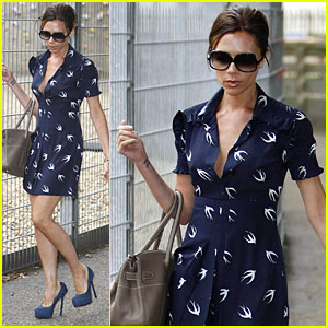 Victoria Beckham: High Heels for Playdate!
