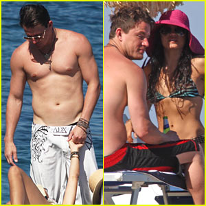 Channing Tatum & Jenna Dewan: Kisses On The Beach