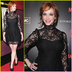 Christina Hendricks: Mad Men Premiere Party!
