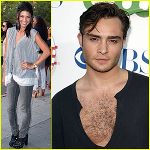 Ed Westwick's Neckline: Dangerously Low!