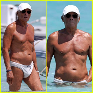Giorgio Armani: Speedo in His Seventies!