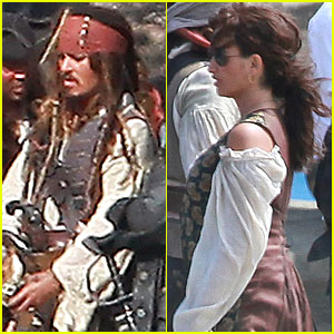 Johnny Depp: Filming Pirates 4 with Penelope Cruz!