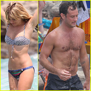 Jude Law: Italy with Sienna Miller and the Kids!