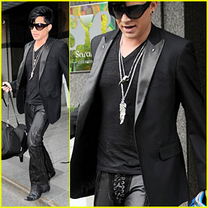 Adam Lambert: Lace-Up Crotch!