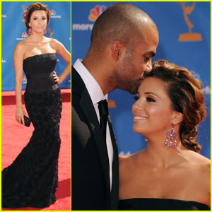 Eva Longoria & Tony Parker - Emmys 2010 Red Carpet