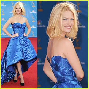 January Jones - Emmys 2010 Red Carpet