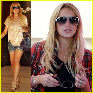 Lindsay Lohan: Sama Sunglasses Shopper